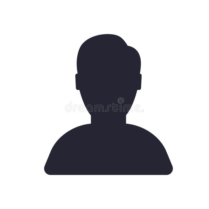 Het het vectordieteken en symbool van het gebruikerspictogram op witte achtergrond, het concept van het Gebruikersembleem wordt g royalty-vrije illustratie