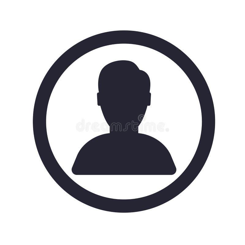Het het vectordieteken en symbool van het gebruikerspictogram op witte achtergrond, het concept van het Gebruikersembleem wordt g stock illustratie