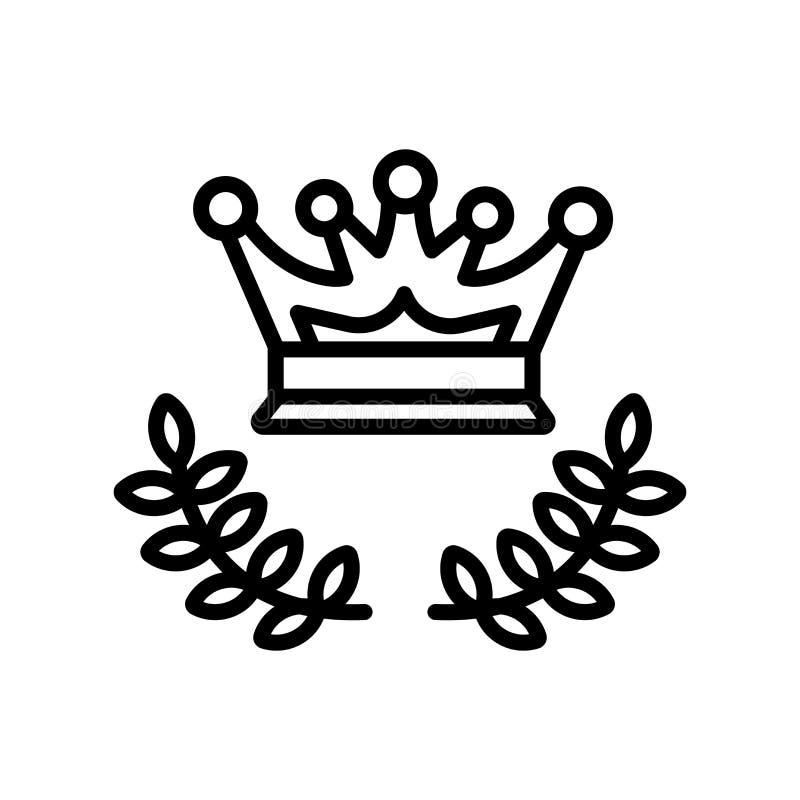 Het het vectordieteken en symbool van het gloriepictogram op witte achtergrond wordt geïsoleerd vector illustratie