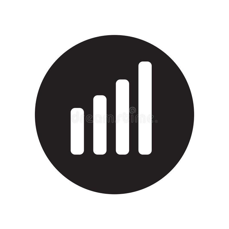 Het het vectordieteken en symbool van het grafiekpictogram op witte backgrou wordt geïsoleerd stock illustratie