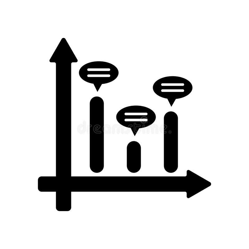 Het het vectordieteken en symbool van het grafiekpictogram op witte backgrou wordt geïsoleerd vector illustratie