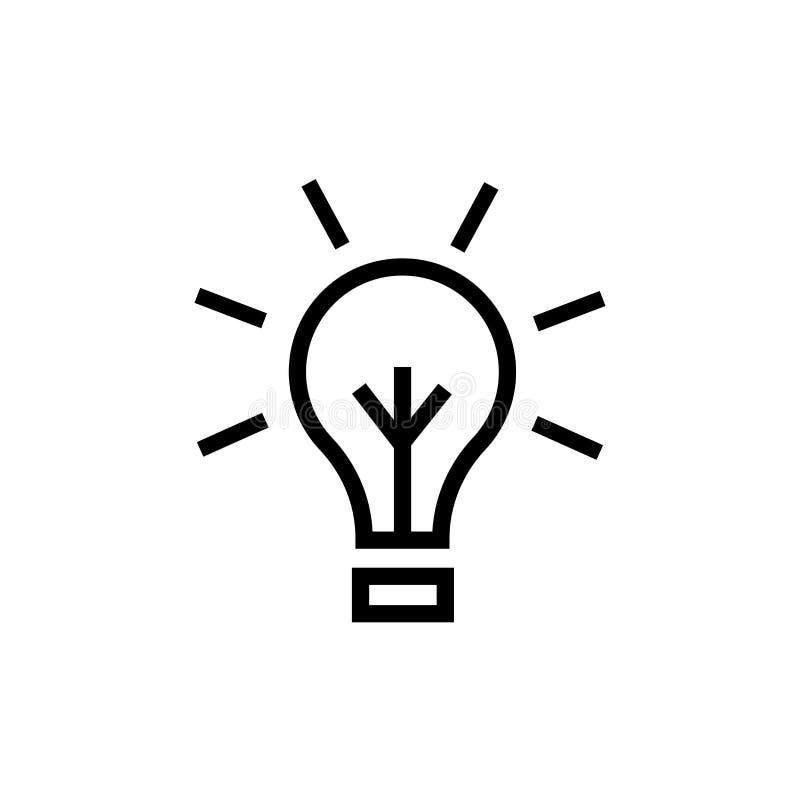Het het vectordieteken en symbool van het ideepictogram op witte achtergrond, het concept van het Ideeembleem wordt geïsoleerd stock illustratie
