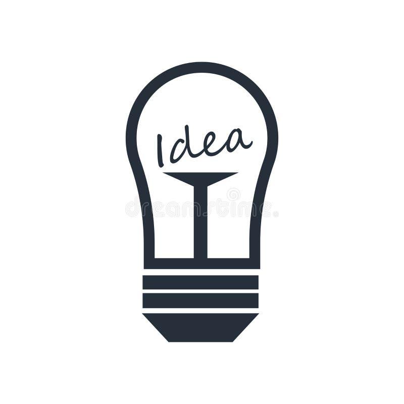 Het het vectordieteken en symbool van het ideepictogram op witte achtergrond, het concept van het Ideeembleem wordt geïsoleerd royalty-vrije stock afbeeldingen