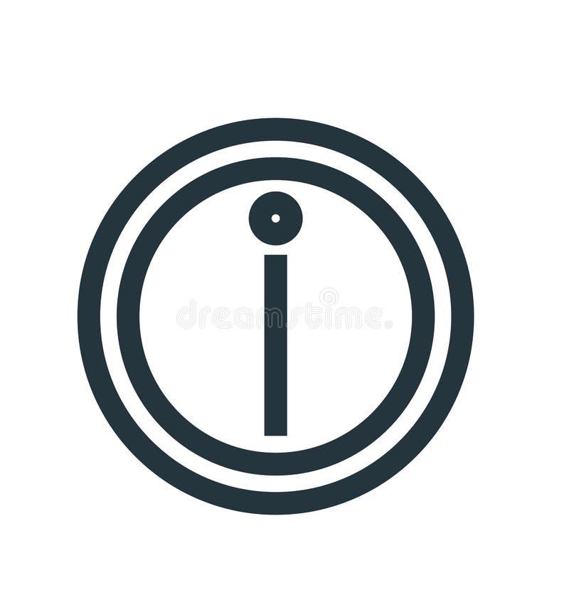 Het het vectordieteken en symbool van het informatiepictogram op witte achtergrond, het concept van het Informatieembleem wordt g vector illustratie