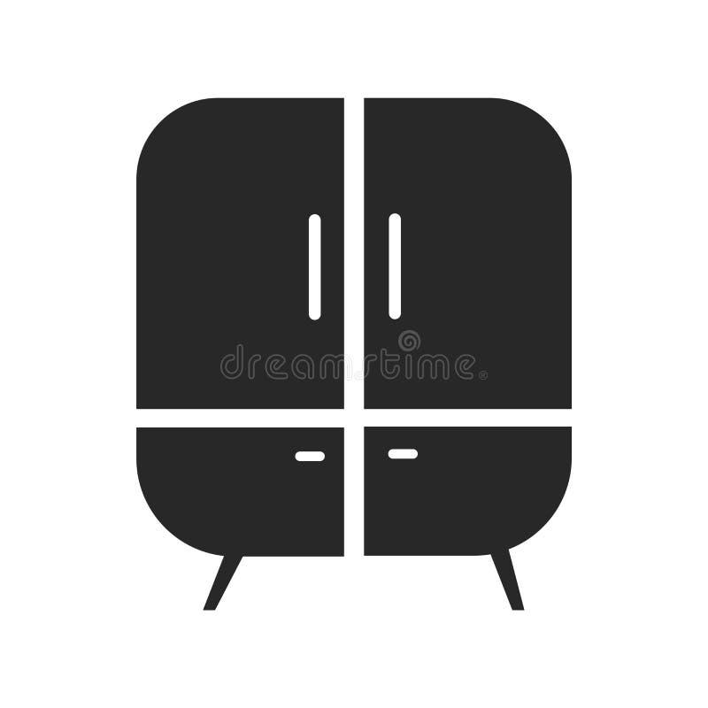 Het het vectordieteken en symbool van het kabinetspictogram op witte achtergrond, het concept van het Kabinetsembleem wordt geïso royalty-vrije illustratie