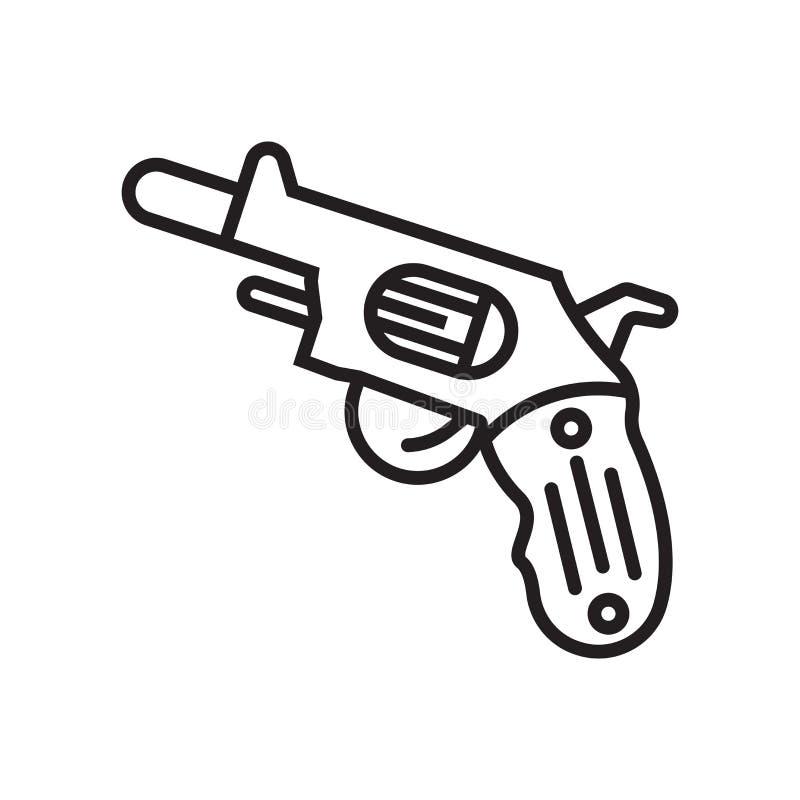 Het het vectordieteken en symbool van het kanonpictogram op witte achtergrond, Gu wordt geïsoleerd stock illustratie