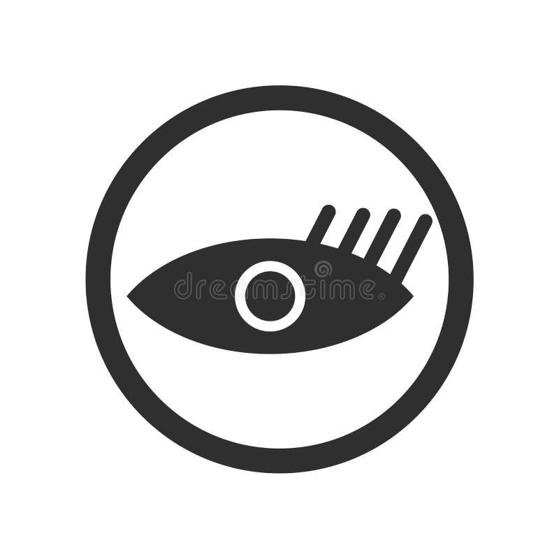 Het het vectordieteken en symbool van het kijkerspictogram op witte achtergrond, het concept van het Kijkersembleem wordt geïsole royalty-vrije illustratie