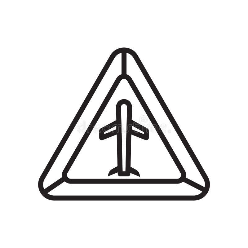 Het het vectordieteken en symbool van het luchthavenpictogram op witte achtergrond, het concept van het Luchthavenembleem wordt g royalty-vrije illustratie