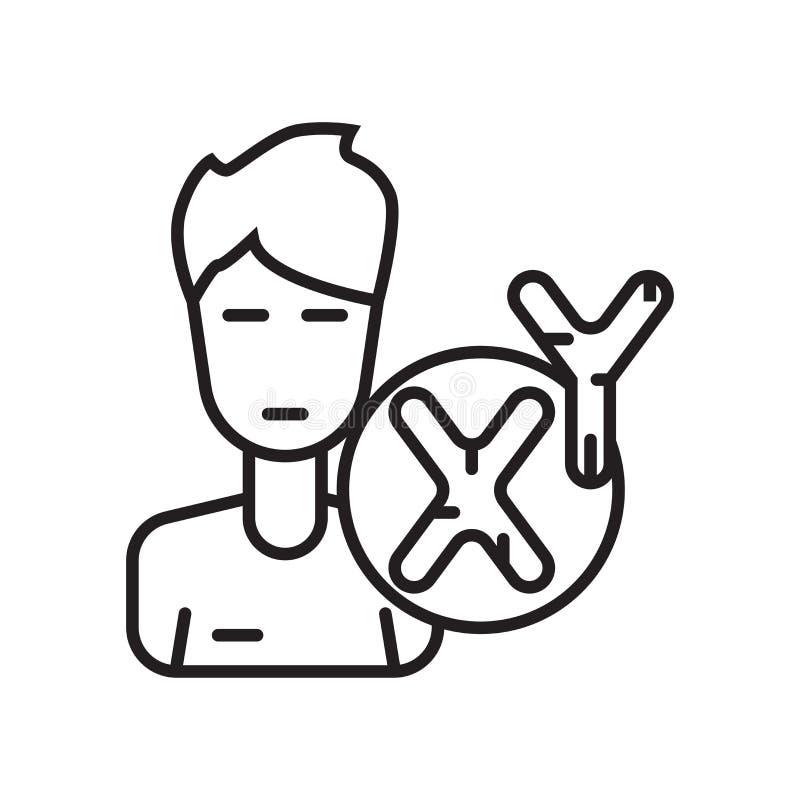 Het het vectordieteken en symbool van het mensenpictogram op witte achtergrond, Ma wordt geïsoleerd vector illustratie