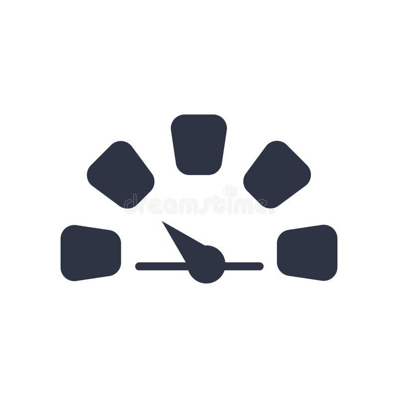 Het het vectordieteken en symbool van het meterpictogram op witte achtergrond, het concept van het Meterembleem wordt geïsoleerd stock illustratie