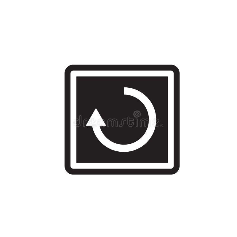 Het het vectordieteken en symbool van het nieuw beginpictogram op witte achtergrond, het concept van het Nieuw beginembleem wordt vector illustratie