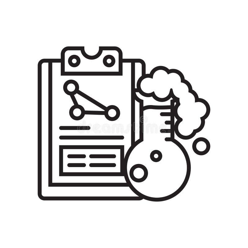 Het het vectordieteken en symbool van het onderzoekpictogram op witte backgroun wordt geïsoleerd vector illustratie