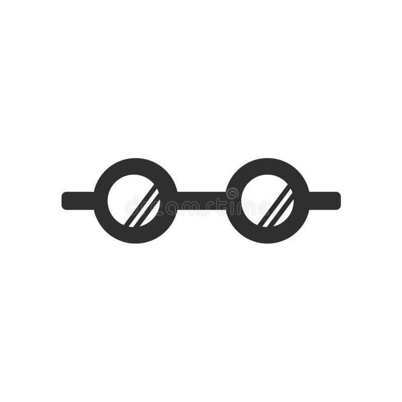 Het het vectordieteken en symbool van het oogglazenpictogram op witte achtergrond, het concept van het Oogglazenembleem wordt geï stock illustratie