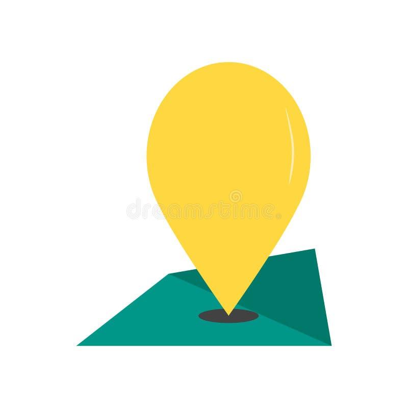 Het het vectordieteken en symbool van het oriëntatiepuntpictogram op witte backgroun wordt geïsoleerd vector illustratie