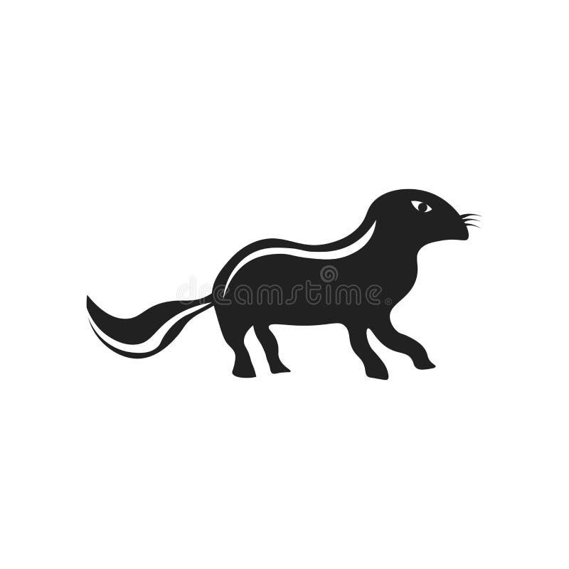 Het het vectordieteken en symbool van het otterpictogram op witte achtergrond, het concept van het Otterembleem wordt geïsoleerd vector illustratie