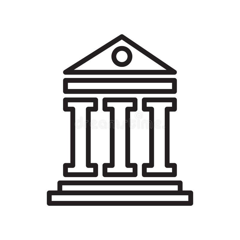 Het het vectordieteken en symbool van het pantheonpictogram op witte backgroun wordt geïsoleerd vector illustratie