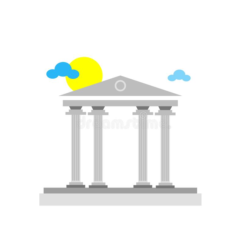 Het het vectordieteken en symbool van het pantheonpictogram op witte backgroun wordt geïsoleerd royalty-vrije illustratie