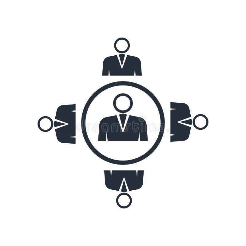 Het het vectordieteken en symbool van het partnermarketingpictogram op witte achtergrond, het concept van het Partnermarketingemb stock fotografie