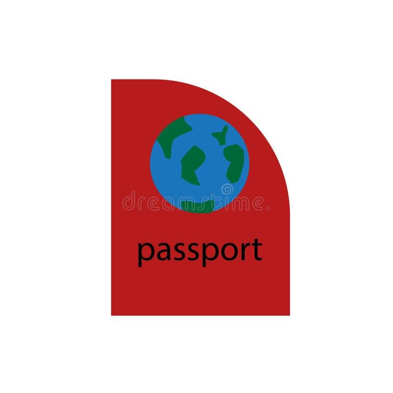 Het het vectordieteken en symbool van het paspoortpictogram op witte achtergrond, het concept van het Paspoortembleem wordt geïso vector illustratie