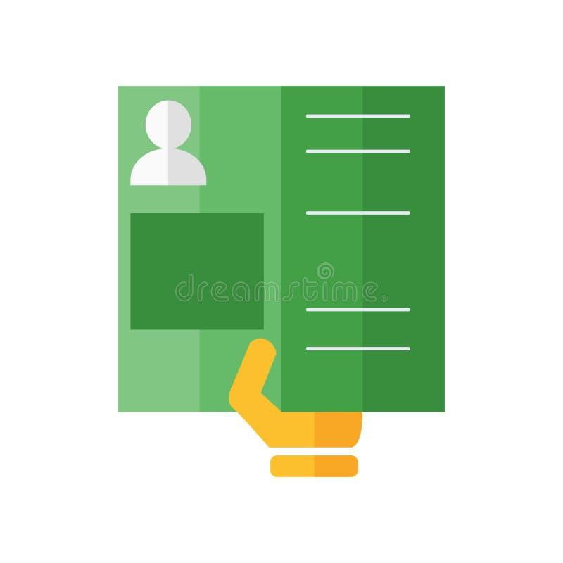 Het het vectordieteken en symbool van het paspoortpictogram op witte backgroun wordt geïsoleerd royalty-vrije illustratie