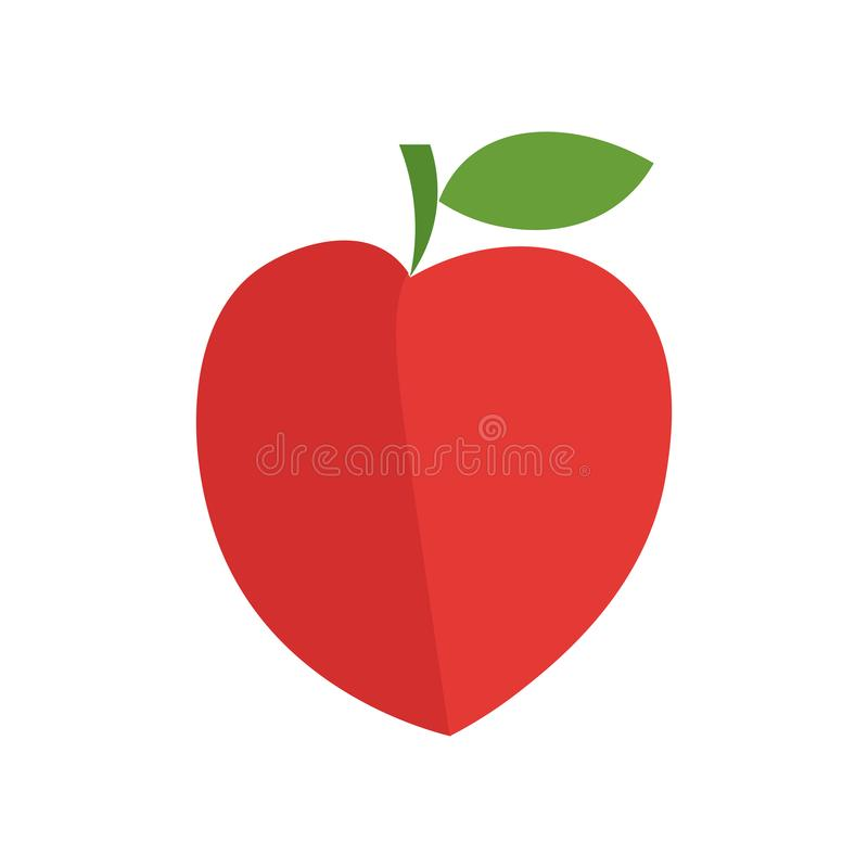 Het het vectordieteken en symbool van het perzikpictogram op witte achtergrond, het concept van het Perzikembleem wordt geïsoleer royalty-vrije illustratie