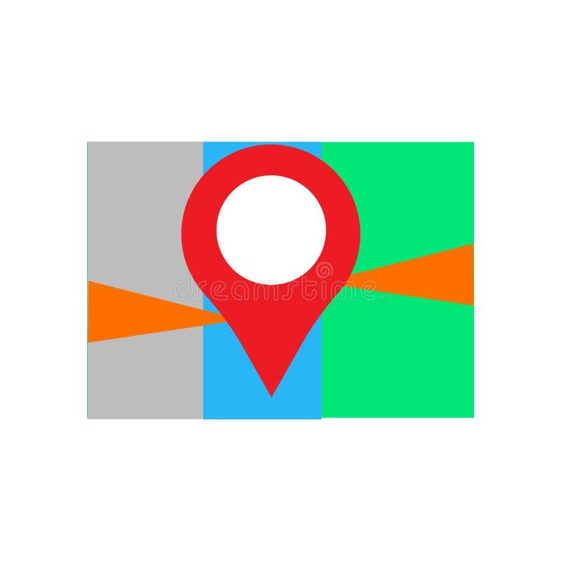 Het het vectordieteken en symbool van het plaatspictogram op witte achtergrond, het concept van het Plaatsembleem wordt geïsoleer vector illustratie