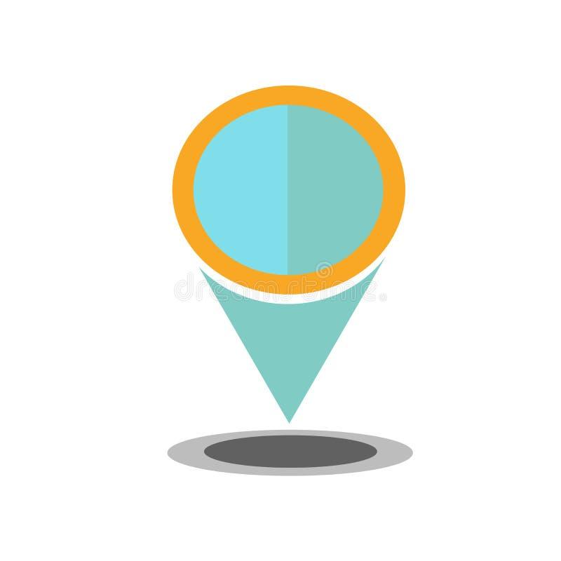 Het het vectordieteken en symbool van het plaatspictogram op witte backgroun wordt geïsoleerd stock illustratie