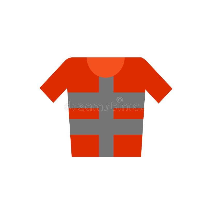 Het het vectordieteken en symbool van het reddingsvestpictogram op witte achtergrond, het concept van het Reddingsvestembleem wor royalty-vrije illustratie