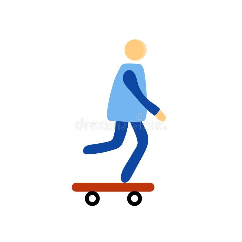 Het het vectordieteken en symbool van het schaatserpictogram op witte achtergrond, het concept van het Schaatserembleem wordt geï vector illustratie