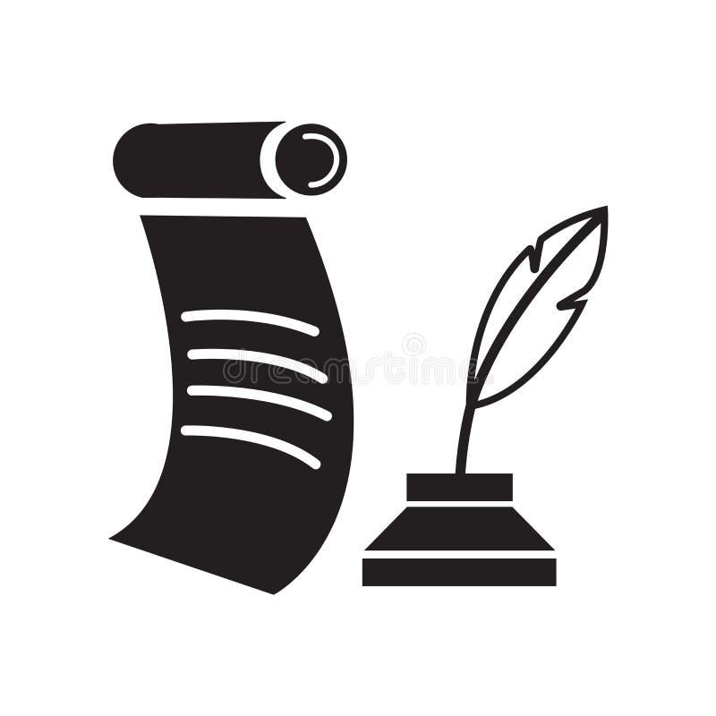 Het het vectordieteken en symbool van het schachtpictogram op witte achtergrond wordt geïsoleerd stock illustratie