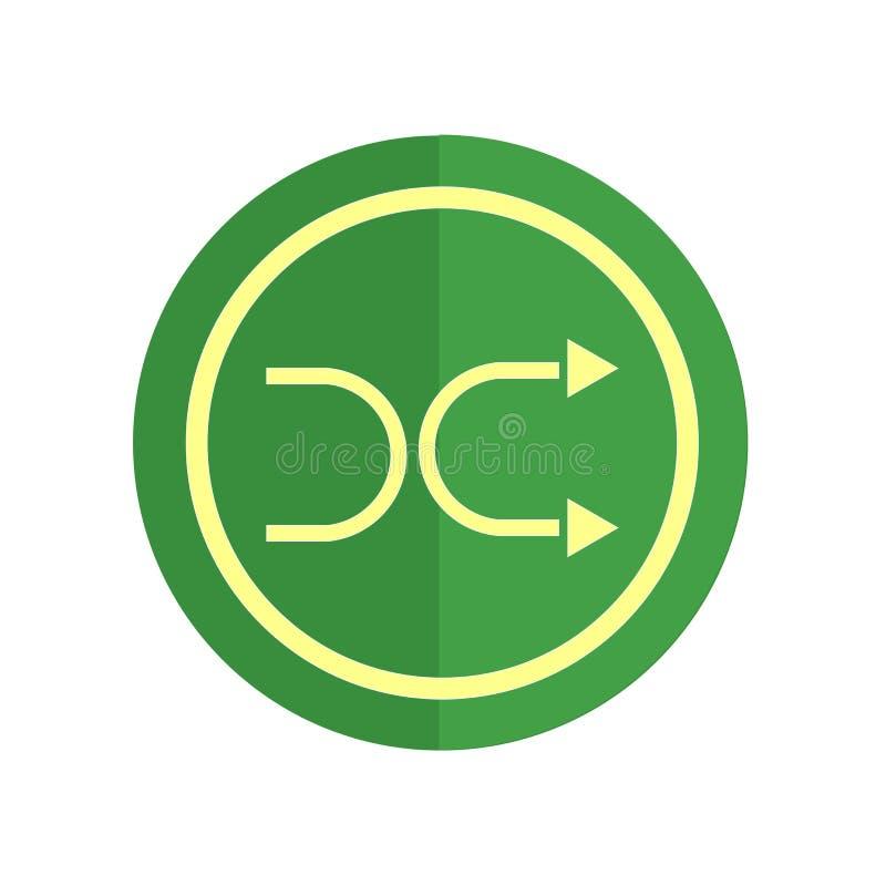Het het vectordieteken en symbool van het schuifelgangpictogram op witte achtergrond, het concept van het Schuifelgangembleem wor stock illustratie