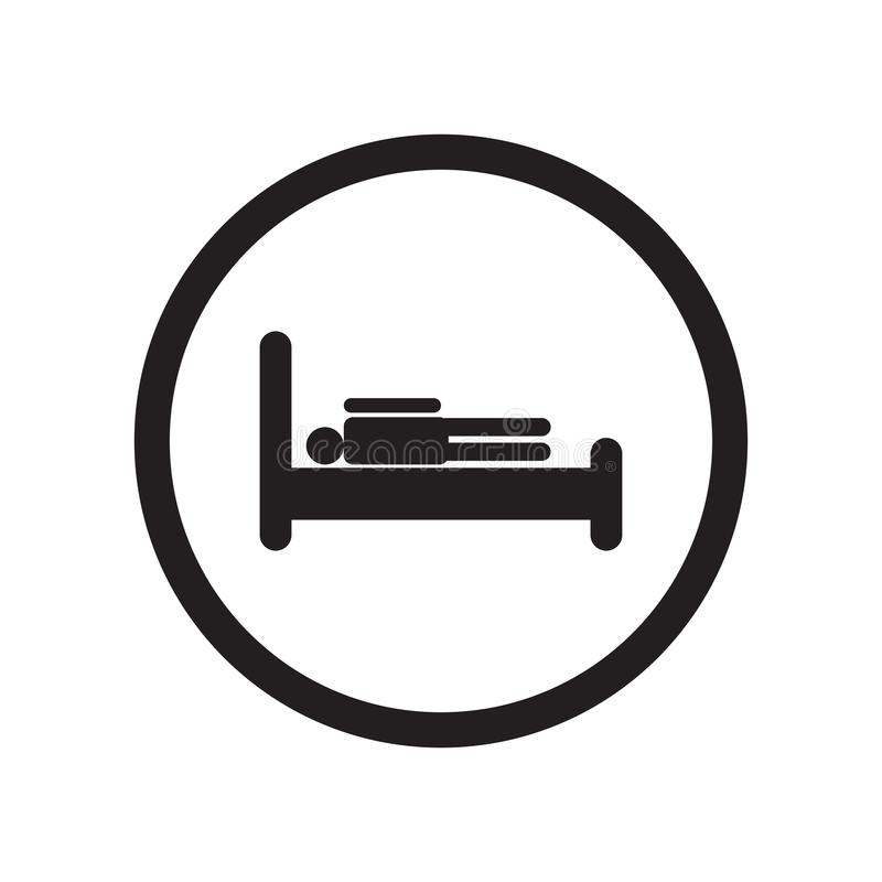 Het het vectordieteken en symbool van het slaapzaalpictogram op witte achtergrond, het concept van het Slaapzaalembleem wordt geï royalty-vrije illustratie