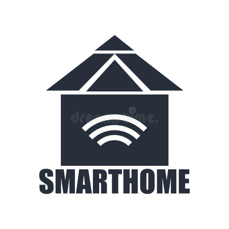 Het het vectordieteken en symbool van het Smarthomepictogram op witte achtergrond, Smarthome-embleemconcept wordt geïsoleerd stock illustratie