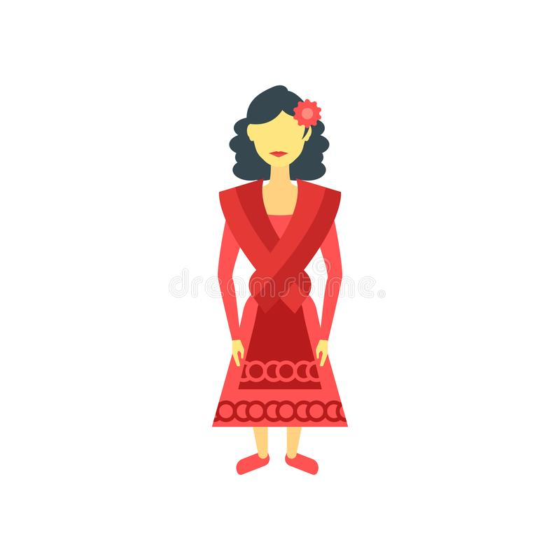 Het het vectordieteken en symbool van het Spaansepictogram op witte achtergrond, het concept van het Spaanseembleem wordt geïsole vector illustratie