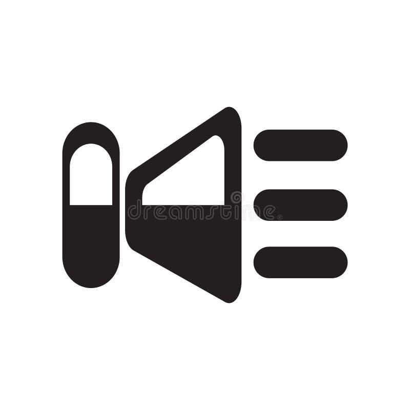 Het het vectordieteken en symbool van het sprekerspictogram op witte achtergrond, het concept van het Sprekersembleem wordt geïso royalty-vrije illustratie