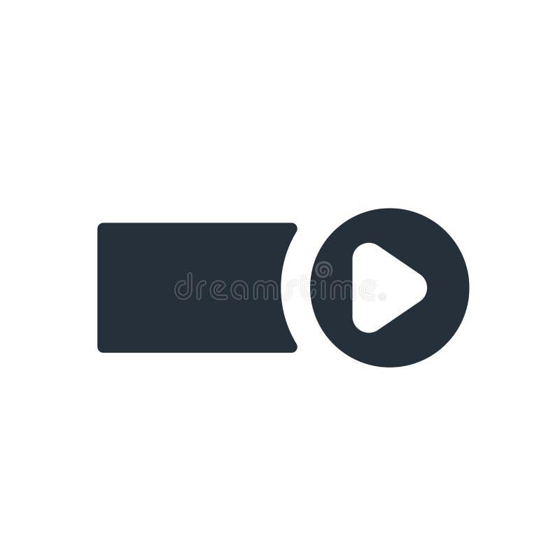 Het het vectordieteken en symbool van het Startknoppictogram op witte achtergrond, het concept van het Startknopembleem wordt geï royalty-vrije illustratie