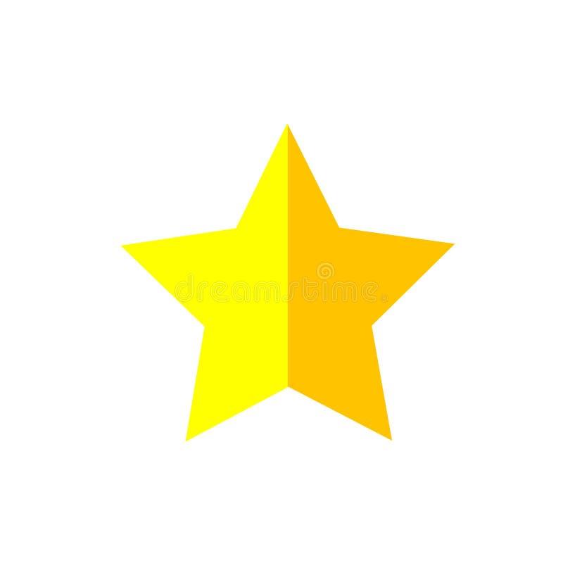 Het het vectordieteken en symbool van het sterpictogram op witte achtergrond, het concept van het Sterembleem wordt geïsoleerd stock illustratie