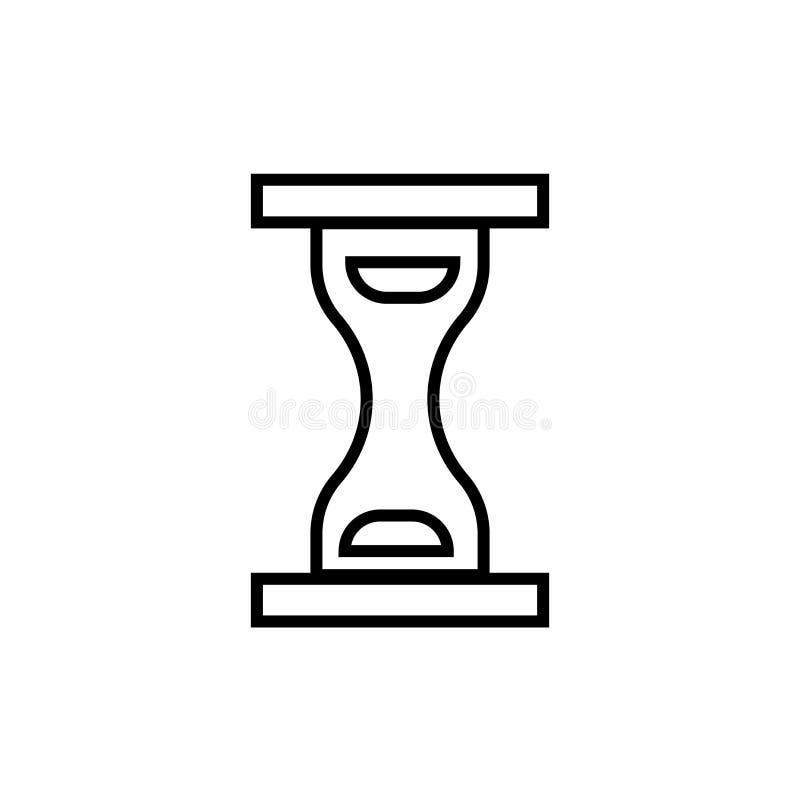 Het het vectordieteken en symbool van het tijdpictogram op witte achtergrond, het concept van het Tijdembleem wordt geïsoleerd vector illustratie