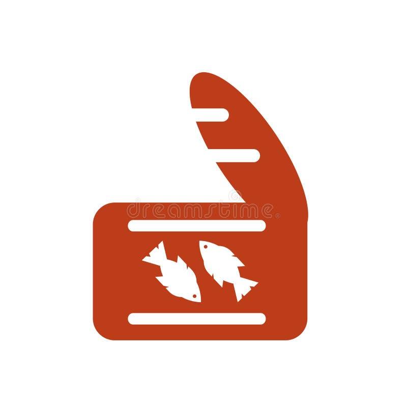 Het het vectordieteken en symbool van het tonijnpictogram op witte achtergrond wordt geïsoleerd vector illustratie
