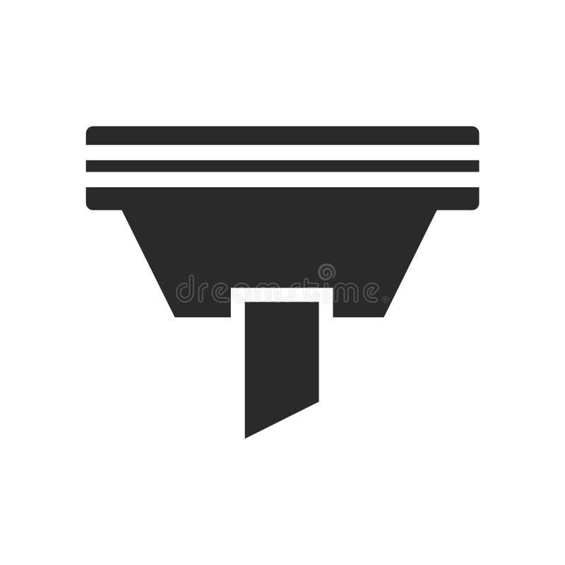 Het het vectordieteken en symbool van het trechterpictogram op witte achtergrond, het concept van het Trechterembleem wordt geïso stock illustratie