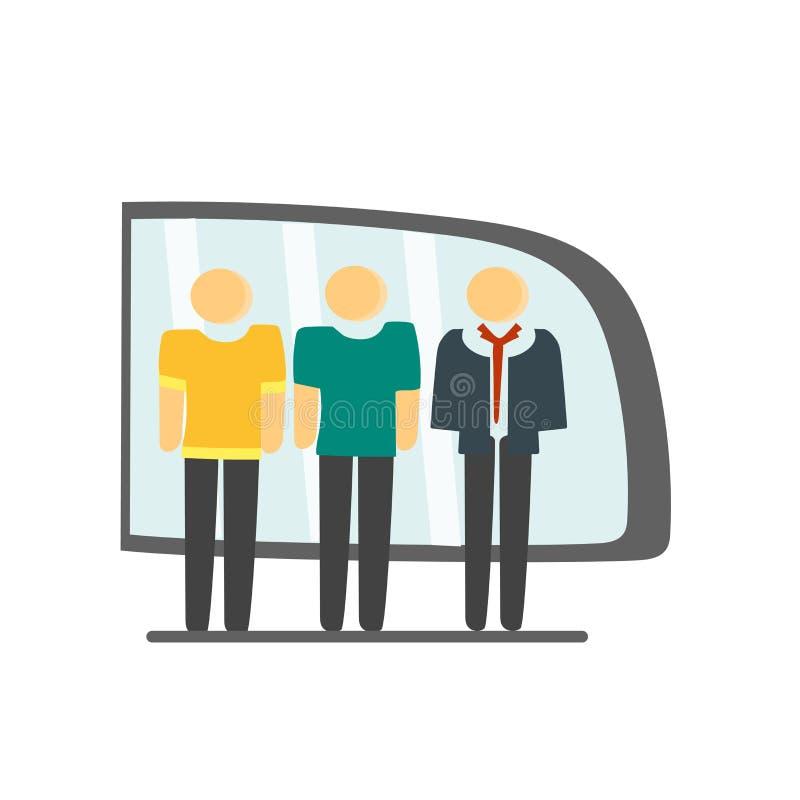 Het het vectordieteken en symbool van het treinpictogram op witte achtergrond, het concept van het Treinembleem wordt geïsoleerd royalty-vrije illustratie