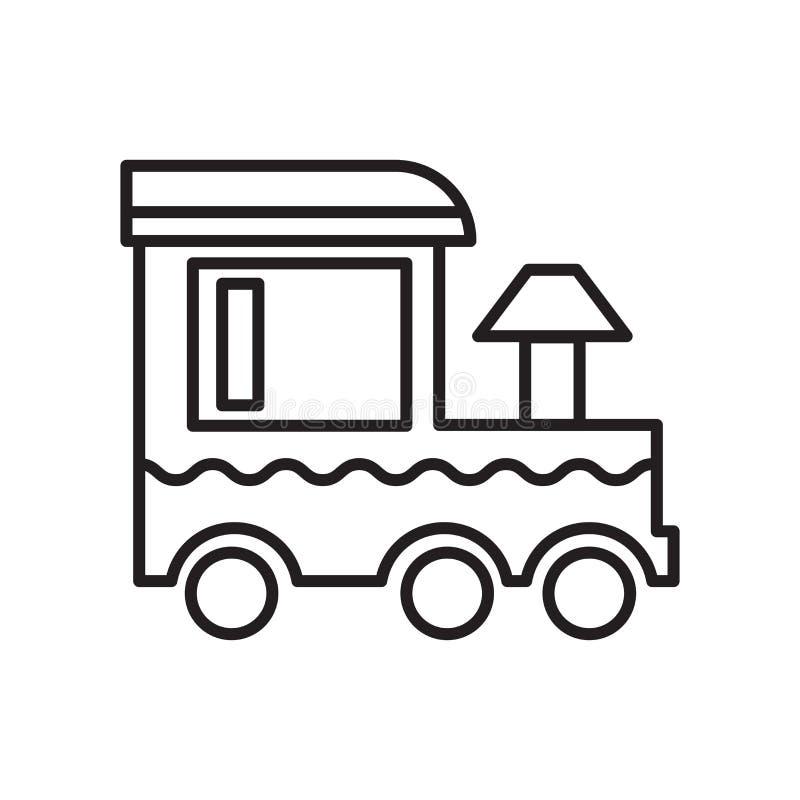 Het het vectordieteken en symbool van het treinpictogram op witte achtergrond, het concept van het Treinembleem wordt geïsoleerd vector illustratie
