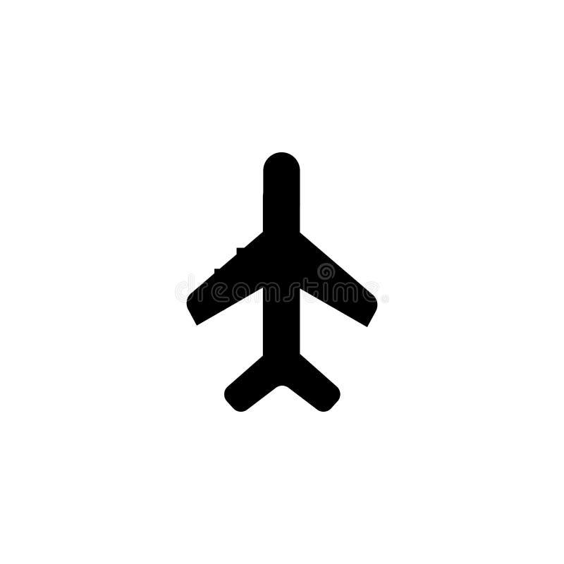 Het het vectordieteken en symbool van het vliegtuigpictogram op witte achtergrond, het concept van het Vliegtuigembleem wordt geï vector illustratie