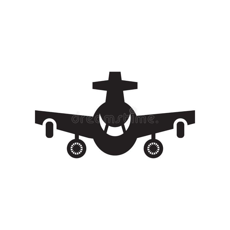 Het het vectordieteken en symbool van het vliegtuigpictogram op witte backgrou wordt geïsoleerd stock illustratie