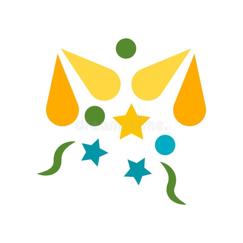 Het het vectordieteken en symbool van het vuurwerkpictogram op witte achtergrond, het concept van het Vuurwerkembleem wordt geïso royalty-vrije illustratie