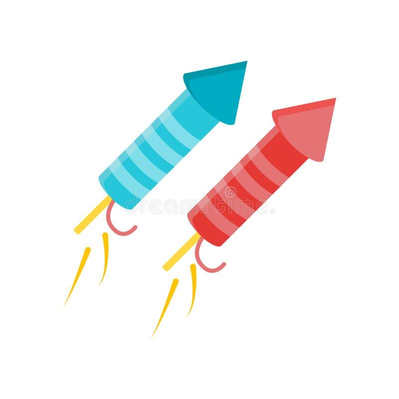 Het het vectordieteken en symbool van het vuurwerkpictogram op witte backgrou wordt geïsoleerd vector illustratie