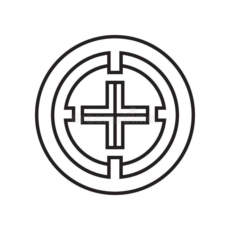 Het het vectordieteken en symbool van het yuanspictogram op witte achtergrond wordt geïsoleerd stock illustratie