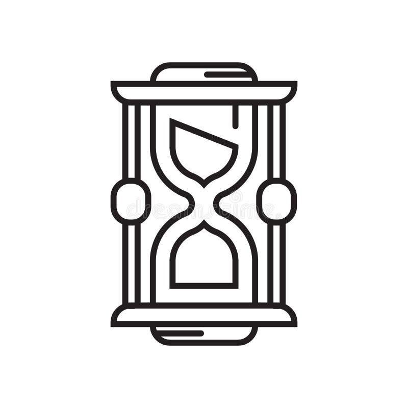 Het het vectordieteken en symbool van het zandloperpictogram op witte backgrou wordt geïsoleerd vector illustratie