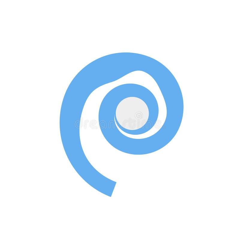 Het het vectordieteken en symbool van het zeeschelppictogram op witte achtergrond, het concept van het Zeeschelpembleem wordt geï stock illustratie