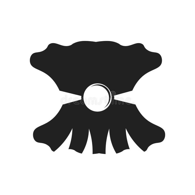 Het het vectordieteken en symbool van het zeeschelppictogram op witte achtergrond, het concept van het Zeeschelpembleem wordt geï royalty-vrije illustratie